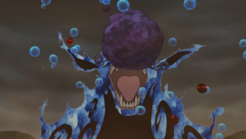 Using a Tailed Beast Ball against Naruto.
