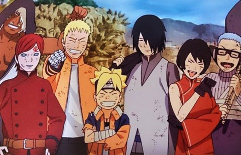 Chojuro with the other Kage.