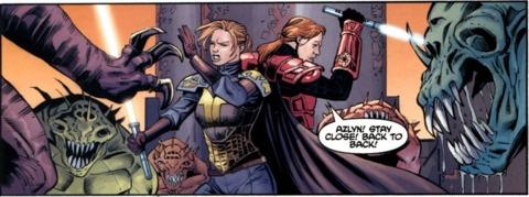 Ganner fighting rakghouls alongside Azyln Rae.