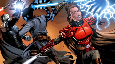 Fighting Sith forces with Jedi Shado Vao.