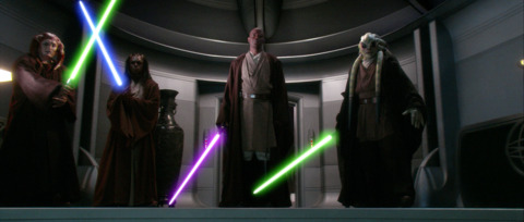 Confronting Palpatine.