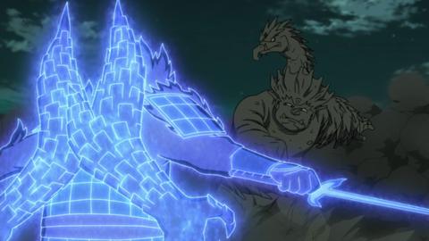 Madara clashes once again with Hashirama.
