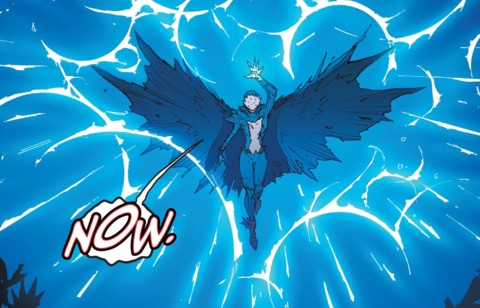 Raven using her powers