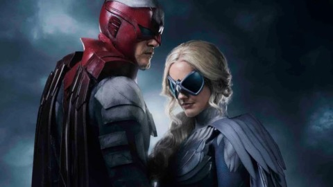 Hawk and Dove as they appear in the Titans series