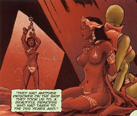 Dejah Thoris captured by the First Born raiders