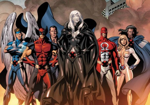 Emma with the Dark X-Men