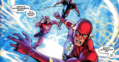 Barry and Wally chased by the Black Racer