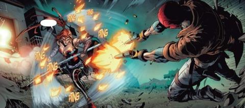 Red Hood vs. Artemis