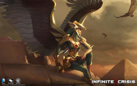 This is hawkgirl from Infinite Crisis vieo game