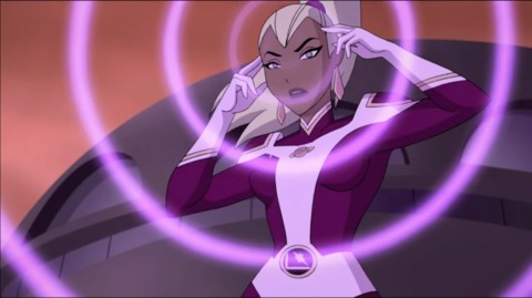 Saturn Girl from Justice League Vs. The Fatal Five Movie