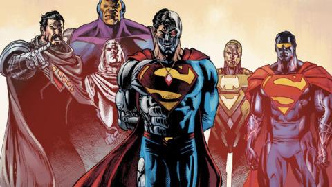 Superman Revenge Squad consisting of Blanque, Metallo, Hank Henshaw (Cyborg Superman I)Eradicator II)Mongul (starting with Action Comics #978).General Zod