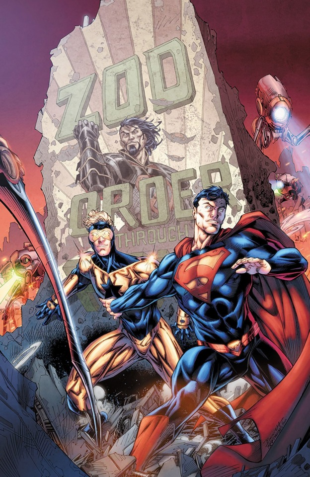 Superman and Booster Gold face a future ruled by General Zod