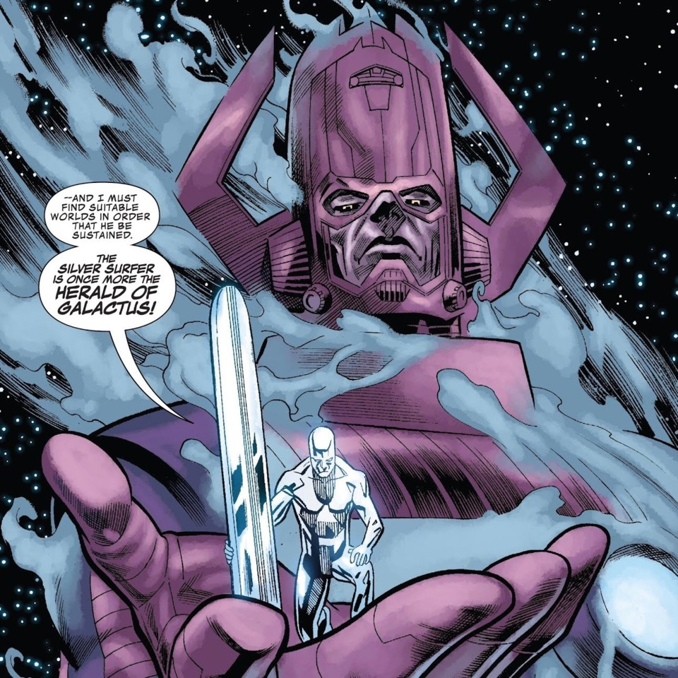 Galactus returns to being his traditional self, at the request of the Silver Surfer