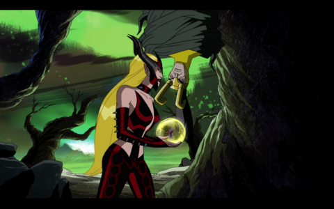 Amora warning Loki about her spell