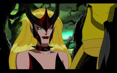Amora entertained by Loki's begging