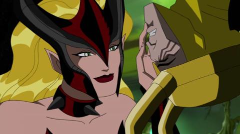 Amora Threatening Loki