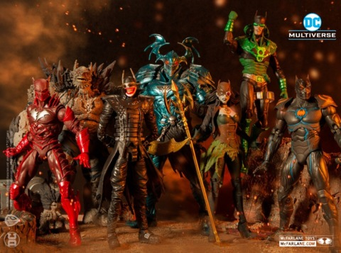 DC Metal figures from the DC Multiverse line