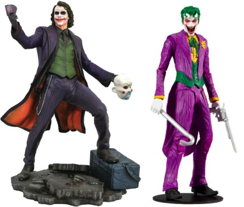 From Diamond Select and McFarlane Toys