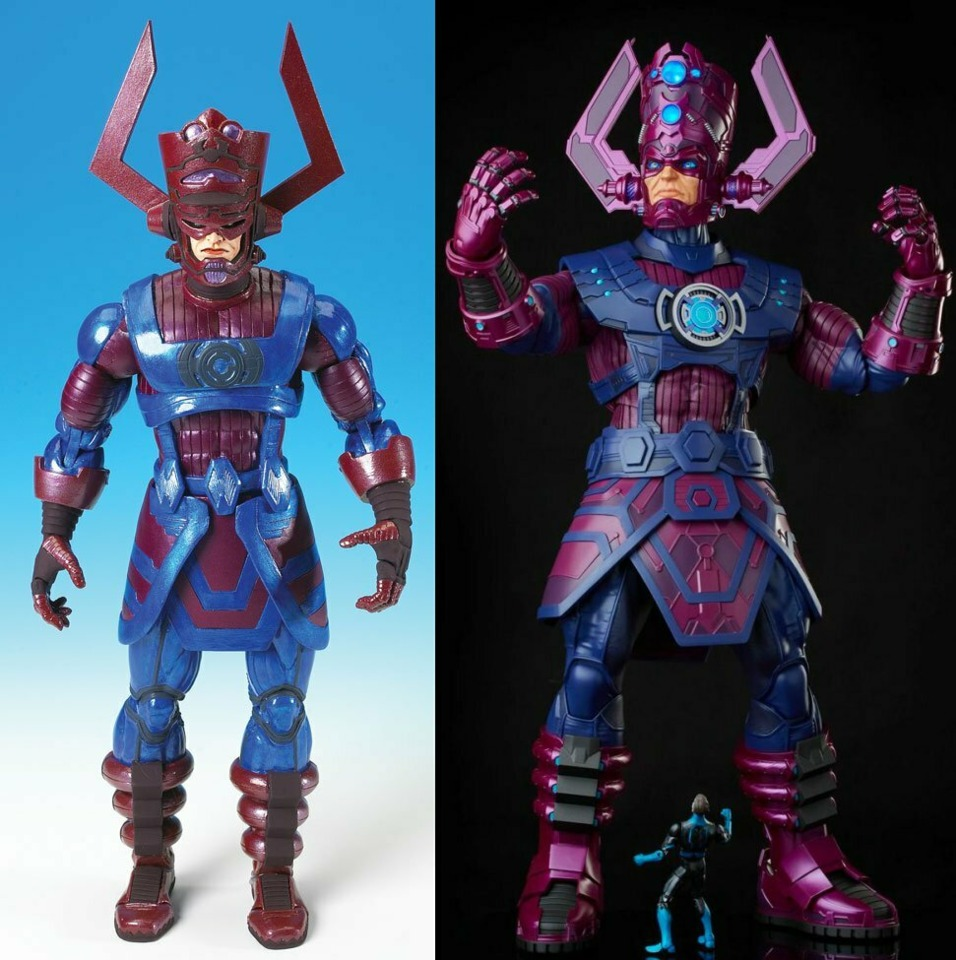 Marvel Legends from ToyBiz (left) and Hasbro (right)