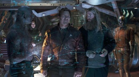 Thor hitches a ride with the Guardians