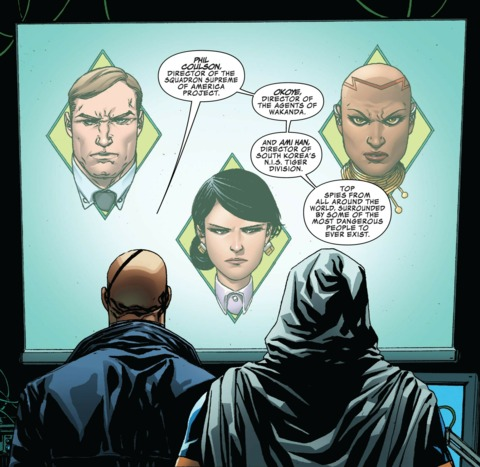 Fury briefs Taskmaster