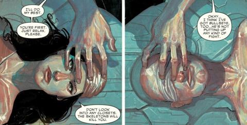 Elektra entering Bullseye's mind