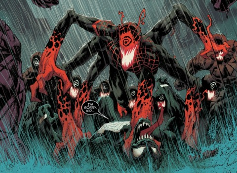 Miles bonded to a symbiote