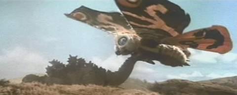 Mothra Fighting Godzilla