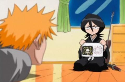 Rukia explains about the Shinigami to Ichigo.
