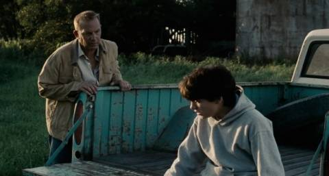 Kevin Costner as Johnathan Kent, offering advice to a young Clark in Man of Steel