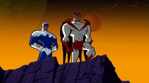 Hawk with Dove in Batman: The Brave and the Bold
