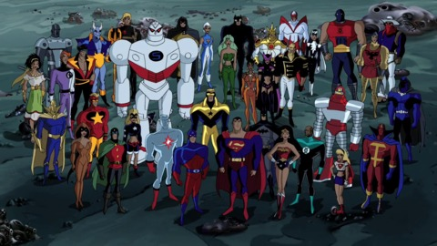 The cast of Justice League Unlimited (most of them at any rate...)