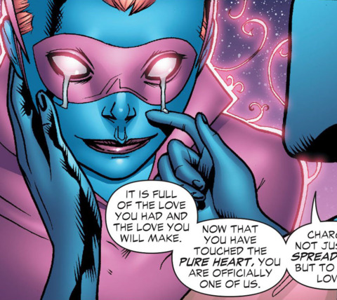 inducting Miri Riam into the Star Sapphire Corps