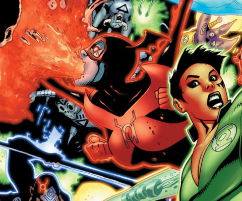 Bleez protects Earth from the Black Lanterns