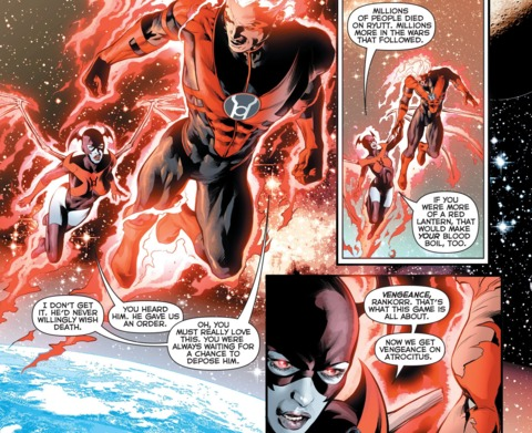 Bleez and Rankorr leaving Earth to kill Atrocitus
