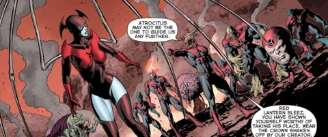 Bleez is again offered leadership of the Red Lantern corps by her fellow Red Lanterns