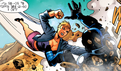 Nadria vs. Nightwing in the New Krypton saga