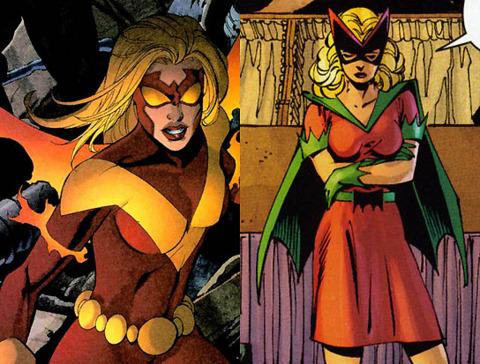 Bette Kane as Flamebird and as Batgirl