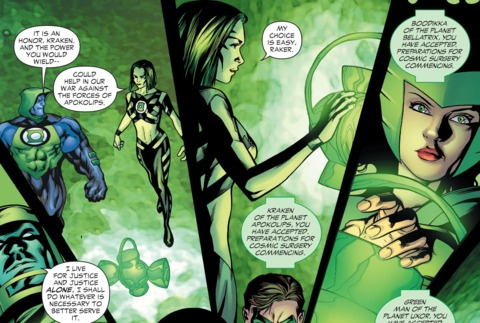 choosing to become an Alpha Lantern