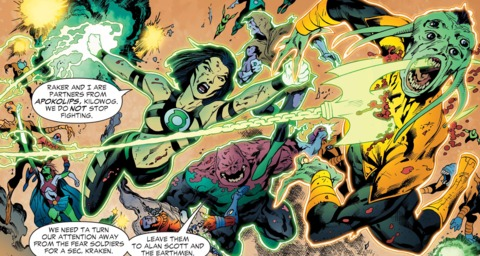 fighting in the Sinestro Corps War