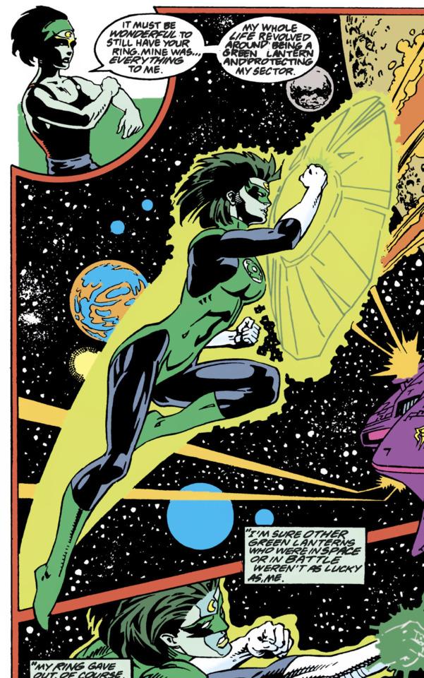 Adara as a Green Lantern, prior to Emerald Twilight