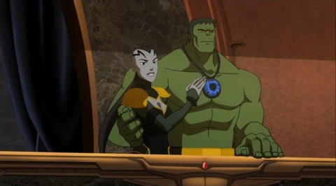 Hulk with Caiera in the movie
