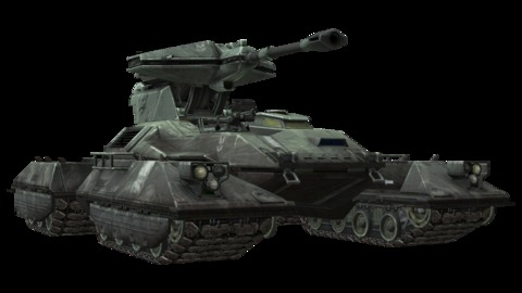 Scorpion: The scorpion is the main battle tank of the UNSC. It is armed with a 90mm main gun and a light machinegun. It only requires a crew of 1 and it can go over most terrain.