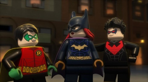 Batgirl, Robin and Nightwing in JL: Gotham City Brakout