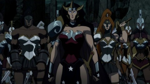 Artemis and the Amazons in Justice League: The Flashpoint Paradox