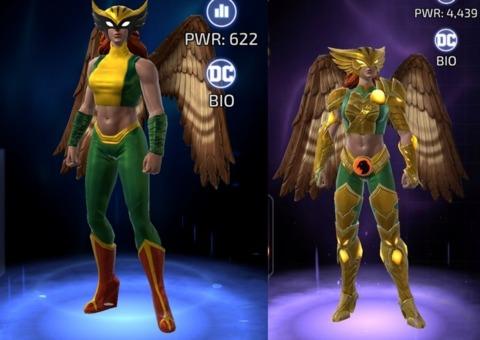 Hawkgirl in DC Legends