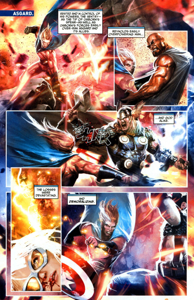 Very quick. Sentry can kill Thor in one hit.