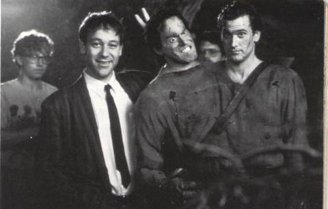 Photo from Evil Dead Army of Darkness. Sam Raimi and Bruce Campbell