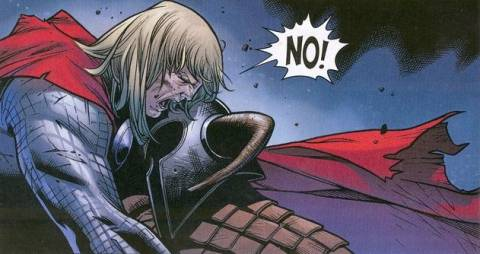 Bor dies in Thor's arms