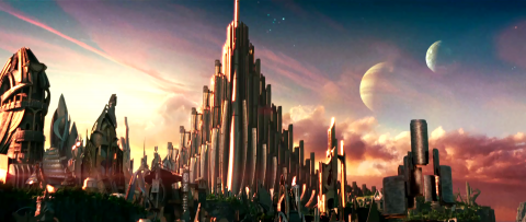 Asgard in the live action Thor movie